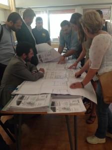 La Commissione Lavori Pubblici nel cantiere della scuola di via Mazzacurati