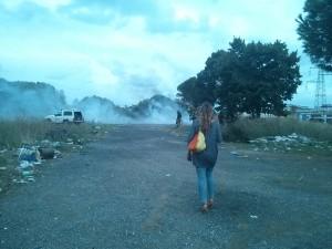 Corviale, un campo abusivo dato alle fiamme